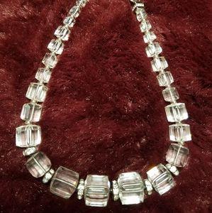 Swarovski silver and rhinestone choker